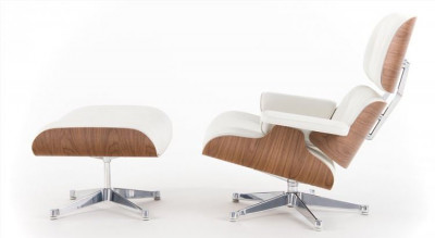 Sillón Eames Lounge Chair Blanco